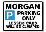 MORGAN Large Metal ParkingSign for plus 4 8 4/4